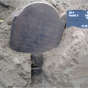 Three Years Since Tombstone of James Jackson Dating Back to 1799 Discovered During Washington Square Park Construction