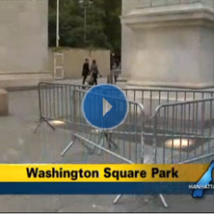 """Chunk"" of the Washington Square Arch Falls To Ground Overnight Sunday"