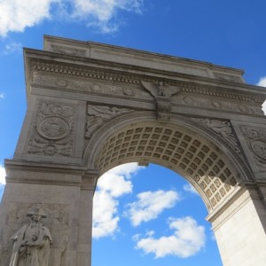 This Morning's Magnificent Blue Sky As Backdrop to the Washington Square Arch