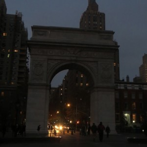 Hurricane Sandy? No. Just Friday Night Unlit Arch.