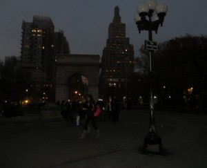Park bustling even in dark