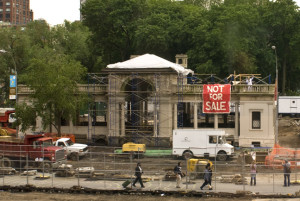 Union Square Pavilion While Under Construction