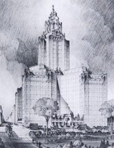 Emery Roth's once proposed tower for Wash Sq South