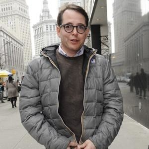 Matthew Broderick outside court
