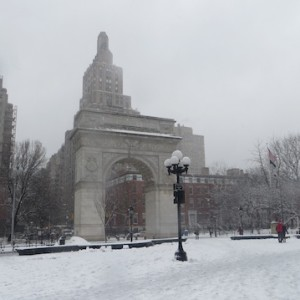 Washington Square, Yesterday's snowstorm | Photos