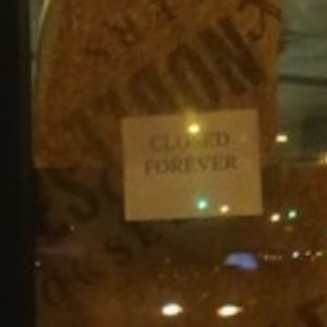 "Signs Modified at ""Forever"" Closed Barnes & Noble"