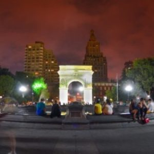 Great Shot of Washington Square Park At Night