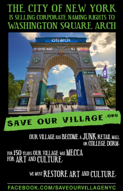 advertising_on_the_arch_save_our_village