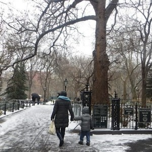 Winter Washington Square – Today's Snow at the Park! (Photos)