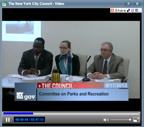 Parks Department(l-to-r): Larry Scott Blackman, Veronica White, Liam Kavanagh (September 2013)