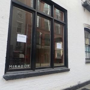 Mirador Now Closed