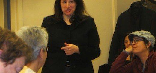 Conservancy Founding member & Treasurer Gwen Evans at meeting