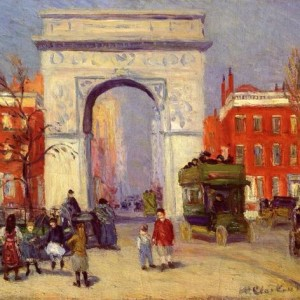 Washington Square Park 1908 Painting by William Glackens & Blog Schedule