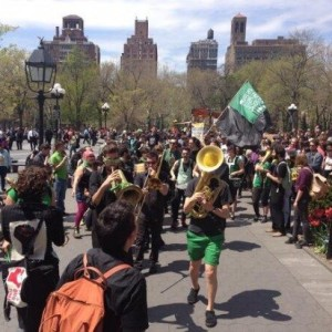 May Day Washington Square Earlier Today
