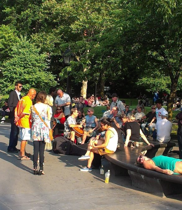 music_benches_washington_square_summer_greenwich_village