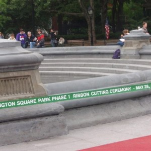 "Washington Square Park ""Ribbon Cutting"" Ceremony for Completion of Phase III Construction Tuesday, June 10th"