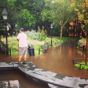 It Happened at Washington Square: Why is the (New) Park Severely Flooding?