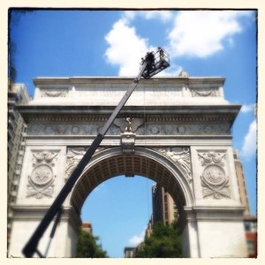 "Going ""Green:"" Washington Square's Arch Making the Switch to LED Lighting"