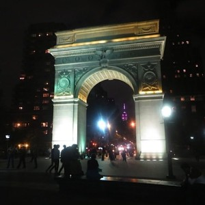 Washington Square: The Arch at Night