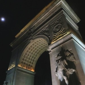 The Arch in the Light of the Full Moon at Washington Square Park