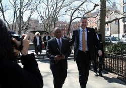 Mitchell Silver with Mayor Bill de Blasio