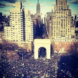 A Photo that Shows & Tells – Millions March NYC, Washington Square Park 12/13/14