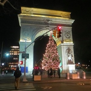 Washington Square Christmas Tree 2014 At Night – And An Idea for Next Year