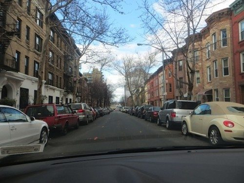 Driving through Park Slope