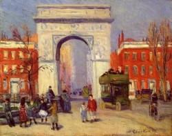 Washington Square Park 1908 by William Glackens