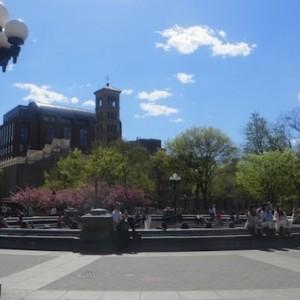 Fountain Plaza Washington Square Park Greenwich Village