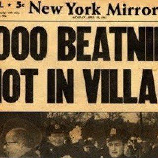 new york mirror beatnik folk riot mass arrests greenwich village