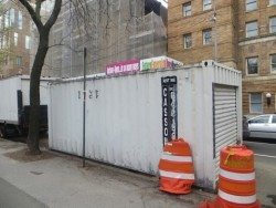 Parks Department Storage Replaced Ugly NYPD Trailer Washington Square South Greenwich Village