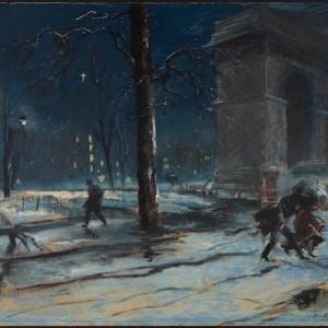 Everett Shinn Washington Square Park 1910