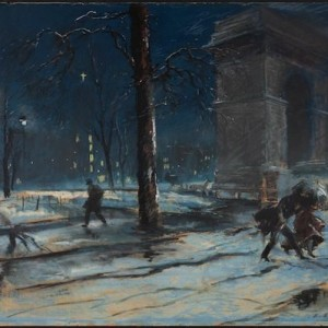 "Artist Everett Shinn's ""Most Beautiful Spot"": Washington Square 1910 | P.s. Did the Park Shrink at Some Point?"