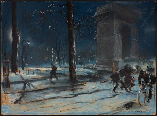 "Artist Everett Shinn's ""Most Beautiful Spot"": Washington Square 1910 