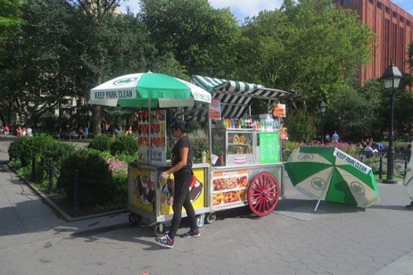 Hot Dog Vendor Returned to Park - One now, not two