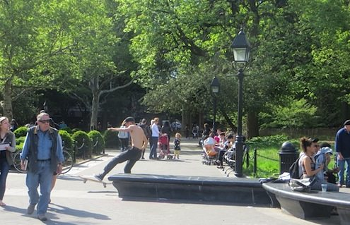 skateboarding washington square park