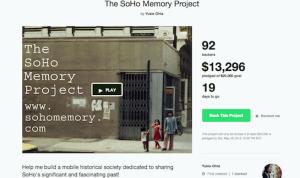 Soho Memory Project History Preservation Kickstarter