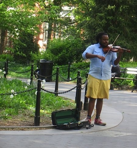 violinist washington square park