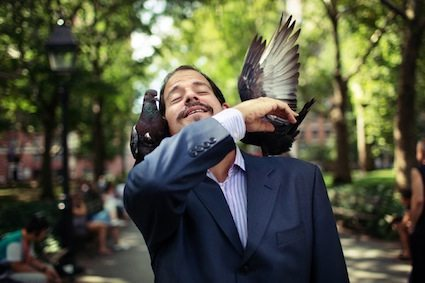 2013 William MacLeod with his pigeons at the park