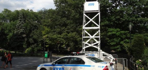 NYPD Watchtower now Installed in Tompkins Sq Park