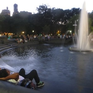 3 Scenes by the Fountain: Day, Dusk, Night
