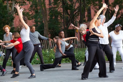 Dances for a Variable Population performing washington square park