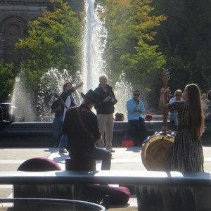 What You'll Find at Washington Square Park on an Early Fall Day
