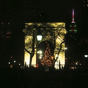 washington square park christmas eve