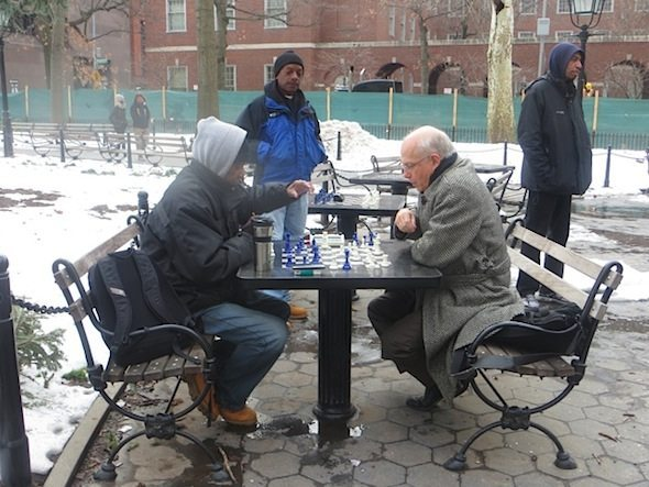 Chess Plaza Winter Washington Square Park