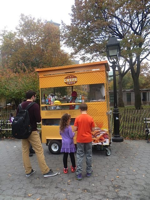 New crepe cart Fountain Plaza Washington Square Park
