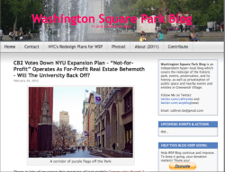 Original Washington Square Park Blog Header