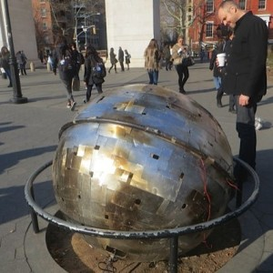 """Mystery"" ""Disco"" Ball Makes Pit Stop at Dead Tree Pit at Washington Square Park, Then Moves on"