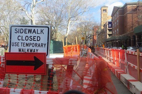 sidewalk reconstruction washington square park
